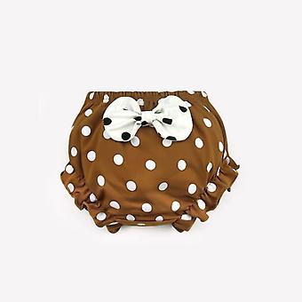 Pamuklu İç Çamaşırı Külot / bebek Bebek Sevimli Big Bow Dots Şort