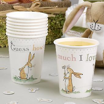 Guess How Much I Love you Paper Cups x 8 Birthday Christening