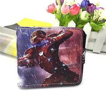PU leather Coin Purse Cartoon anime wallet --iron Man # 720