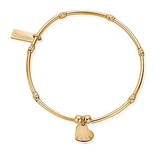 ChloBo GBMNSR1075 Mini Noodle Sparkle Rice Love Heart Bracelet