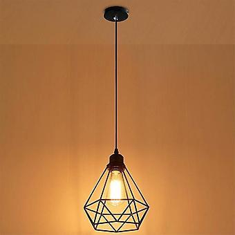 Hängende Lampenschirm Zubehör Anhänger Indoor Käfig Form dekorativ (schwarz)