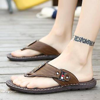 Ležérne kožené športové topánky papuče