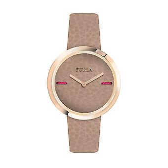 Furla Women'S My Piper Brown Dial Calfskin Leather Watch