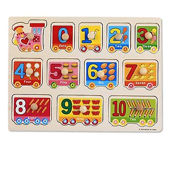 Wooden, Hand Grab Board - 3d Puzzles, Educational, Cartoon Toy