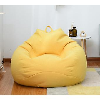 Lazy Sofas Cover Chairs Without Filler Linen Cloth Lounger Seat