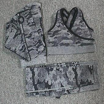 Camouflage Camo Yoga Set Sports Wear Gym Fitness Kleding Leggings + Sport Bra