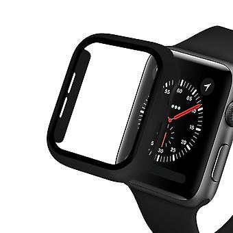 Glas+fodral För Apple Watch Serie 6 5 4 3 Se 44mm 40mm Iwatch Case