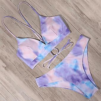 Sexy Bandage Swimsuit Swimwear Women Thong Push Up Bikinis Set