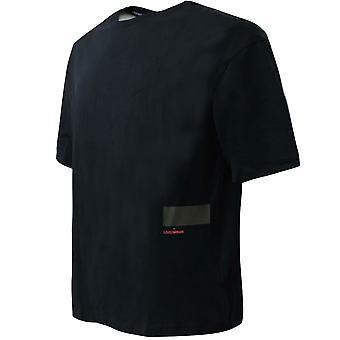 تحت درع السعي قصيرة الأكمام تي شيرت الرسم الرجال الأسود الأعلى 1342994 002