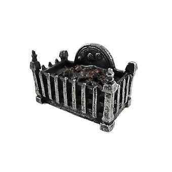 Dolls House Fire Grate Basket met gloeiende kolen Hars 1:12 Open haard Accessoire
