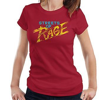 Sega Streets Of Rage Gold Logo Dame&ampos;s T-skjorte