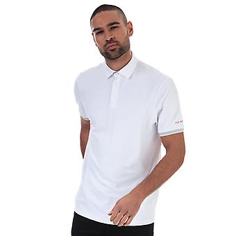 Men's Ted Baker Clubtwo Textured Polo Shirt in White