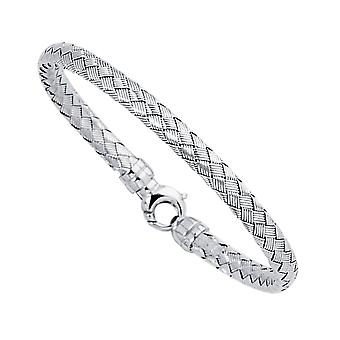 "14 k White Gold vävt kvinnors armband armband, 7,25 """