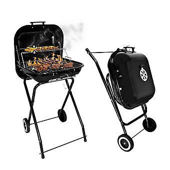 Barbacoa plegable - Barbacoa sobre ruedas - Camping BBQ - 82x46 cm