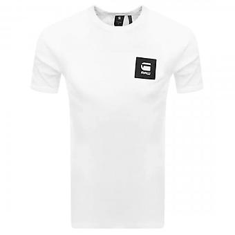 G-Star Badge Logo Slim T-Shirt White D18197 C336