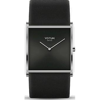 VOTUM - Montre Femme - SQARE - Pure - V02.10.10.01 - Bracelet en cuir - noir