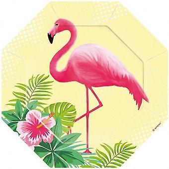 Party signs Flamingo 18 Cm 6 Pieces