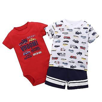 Summer Baby Camiseta, Short y Romper Set, Diseño 18