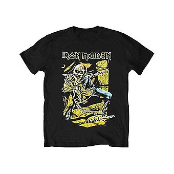 Iron Maiden Kids T Shirt Piece of Mind Band Logo Official Black Ages 5-14 yrs