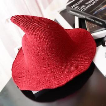 Modern Witch Hat & Along The Sheep Wool Cap/knitting  Female Fashion Witch