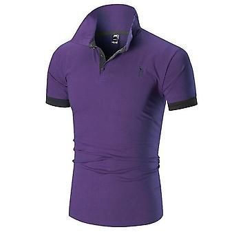 Heren Polo Shirt, Man Korte Mouw, Herten Borduurwerk