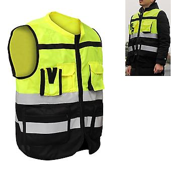 Design Reflect Visibility Utility Safety Vest Mesh Breathable Work Gilet