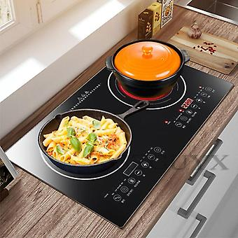 Double-burner Electric Cook Top Induction Cooker  (black)