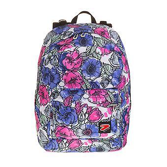 Seven the double backpack - PALETTE - Flowers Fantasy - Draadloze hoofdtelefoons - 2 rugzakken in 1 OMKEERBAAR