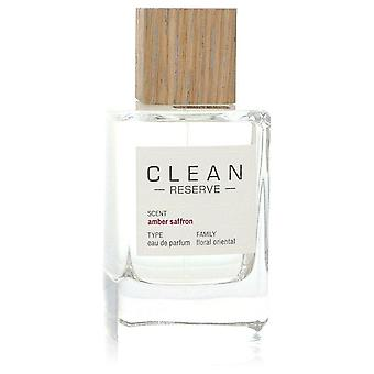 Clean Amber Saffron Eau De Parfum Spray (Tester) By Clean 3.4 oz Eau De Parfum Spray