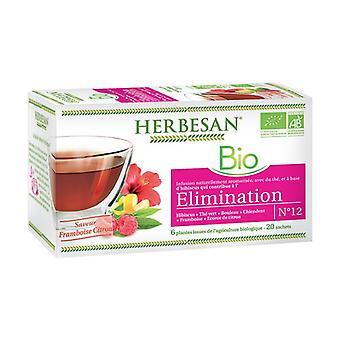 Herbesan Infusion Elimination BIO 20 infusion bags of 1.5g (Lemon - Raspberry)
