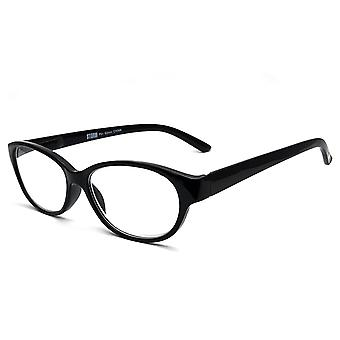 Storm Shiny Black Soft Cat Style Reading Glasses with +1.5 Power Glasses