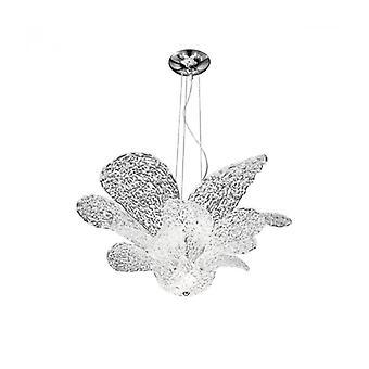 Araña De Diseño Naomi Cromo 7 Bombillas