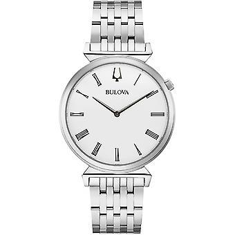 ブローバ 96A232 女性&アポ;s クラシックホワイトダイヤル腕時計