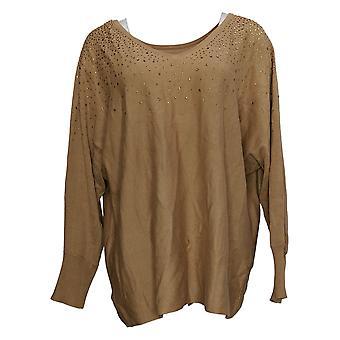 Belle par Kim Gravel Women's Sweater Réversible w/ Bling Gold A386452