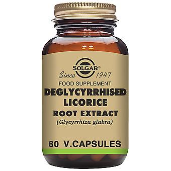 Solgar Deglycyrrhised Licorice Root Extract - 60 Vegetable Capsules