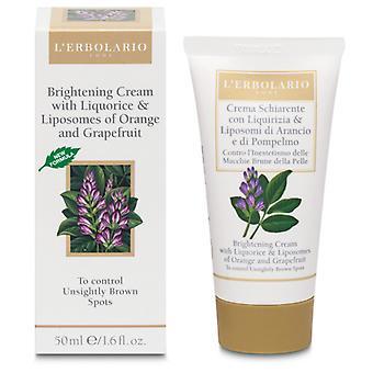 L'Erbolario Lightening Cream com alcaçuz 50ml