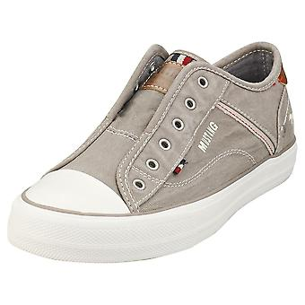 Mustang Low Top Sneaker Womens Casual Trainers em Cinza