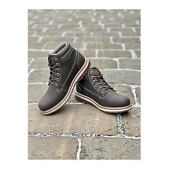 Route 21  Route 21 Dark Brown Winter Walking Boots