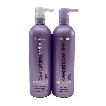 Rusk Deep Shine Color Repair Shampoo & Conditioner Set 25 OZ Each