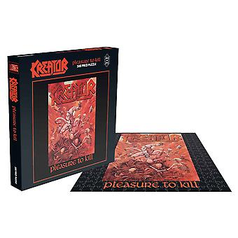 Kreator Jigsaw Puzzle Pleasure To Kill Album Cover new Official Black 500 Piece