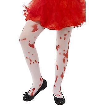 Bloedige Halloween kind panty's