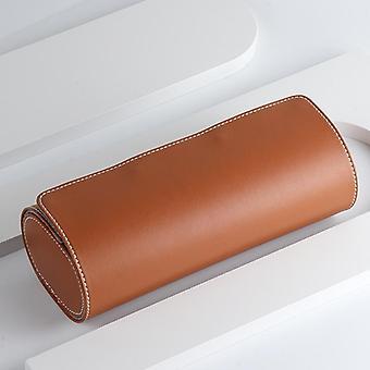 Genuine Leather Watch Case Rolls Holder Organizer