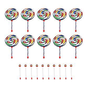 10pieces 7,9 tuuman tikkari muoto rumpu lyömäsoittimet koulutus lelut