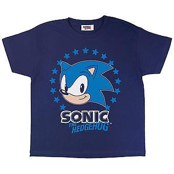 Sonic The Hedgehog Boys Sonic Stjärnor T-Shirt