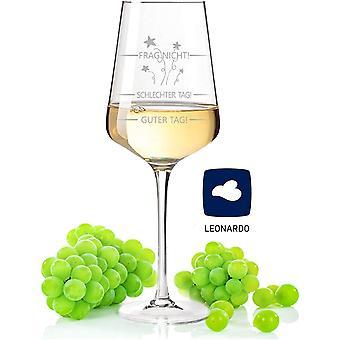 HanFei Leonardo Puccini Weinglas mit Gravur Schlechter Tag, Guter Tag, Frag nicht - Witziges