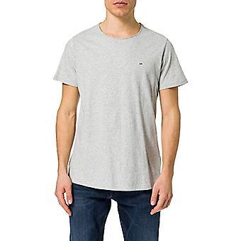 Tommy Jeans Tjm Slim Jaspe C Neck T-Shirt, Light Grey Htr, S Men's