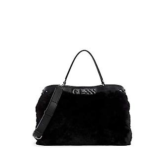 Guess, REAGAN LARGE TURNLOCK SATCHEL Woman, BLA, One Size