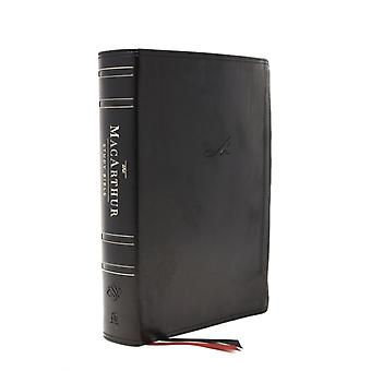 ESV MacArthur Study Bible 2nd Edition Leathersoft Black Thumb Indexed by General editor John F MacArthur