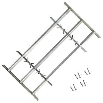 Adjustable Security Grille for Windows with 3 Crossbars  Galvanised Steel