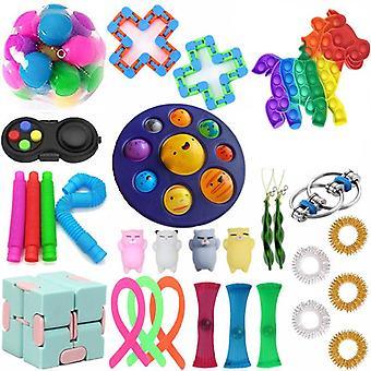 Aisti fidget lelut asettaa kupla pop stressiä helpotus lapsille aikuiset Z296